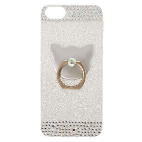 Cat Glam Finger Ring Phone Case,