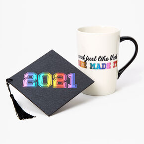 Ceramic 2021 Graduation Mug - Rainbow,