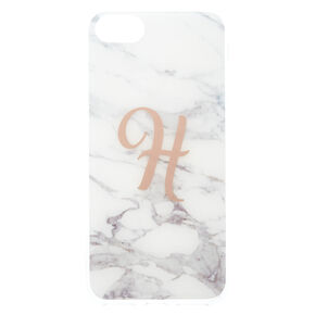 "Marbled ""H"" Initial Phone Case,"