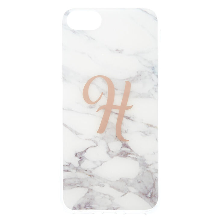 """Marbled """"H"""" Initial Phone Case,"""
