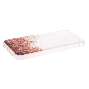 Pink Glitter Cascade Protective Phone Case - Fits iPhone XR,