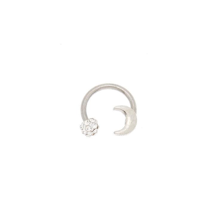 Moon & Fireball Horseshoe Cartilage Earring,