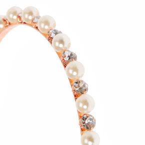 Pearl & Crystal Rose Gold-Tone Headband,