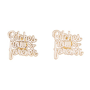 Best Bitches Now & Forever Best Friend Pins,
