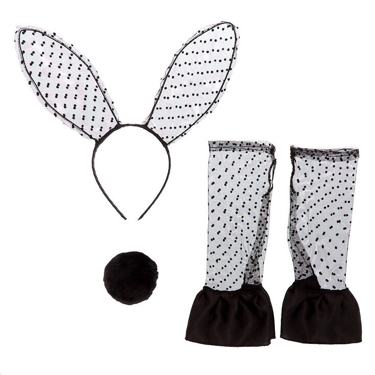 Lace Bunny Costume Kit - Black, 3 Pack,