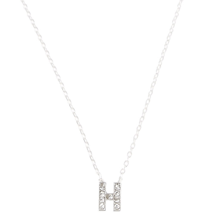 """H"" Pendant Initial Necklace,"