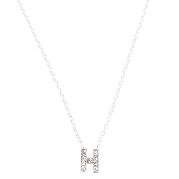 """H"" Pendant Initial Necklace,"