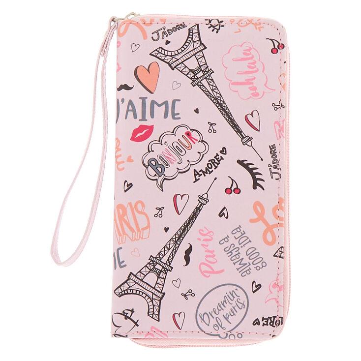 Paris Love Wristlet - Pink,