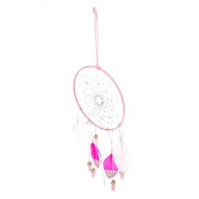 Beaded Healing Crystal Dreamcatcher - Pink,