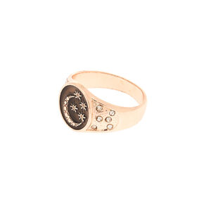 Rose Gold Night Sky Ring,