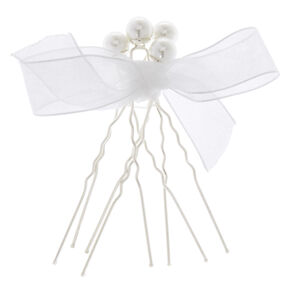 Silver & Pearls Hair Pin Set,