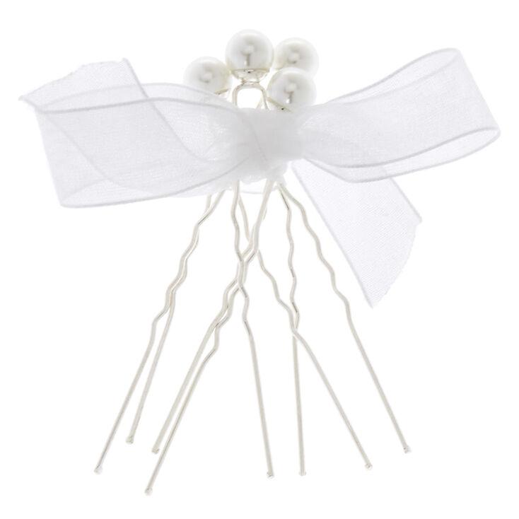 Silver & Pearls Hair Pin Set,