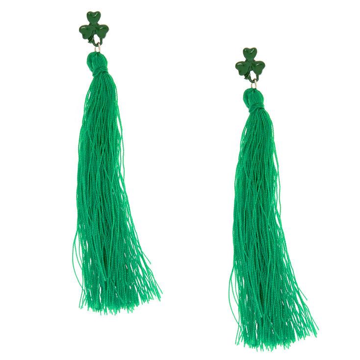 St. Patrick's Day Tassel Earrings,