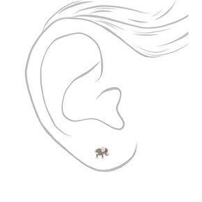 Sterling Silver Elephantastic Stud Earrings,