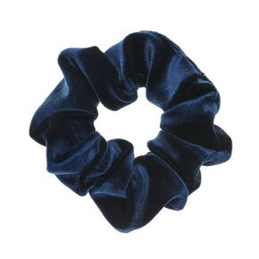 Velvet Hair Scrunchie - Navy,