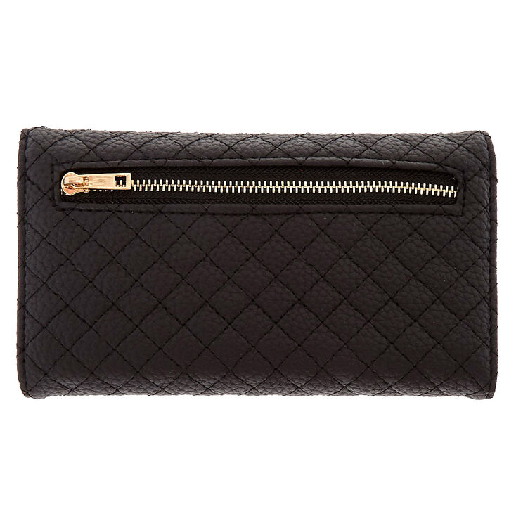 Faux Leather Studded Tech Wallet,