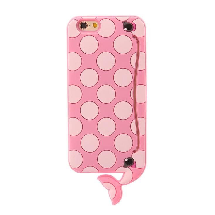3D Pink Polka Dot Whale Phone Case,