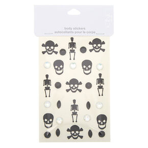 Skeleton Glitter Body Stickers,