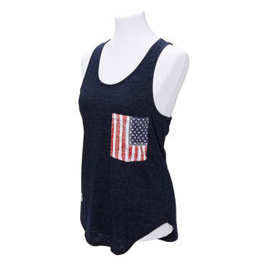 American Flag Pocket Tank Top - Navy,