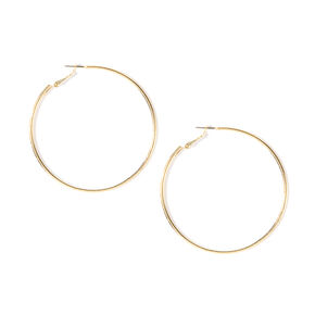 50MM Gold Rounded Band Hoop Earrings,