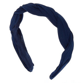 Chiffon Twisted Headband - Navy,