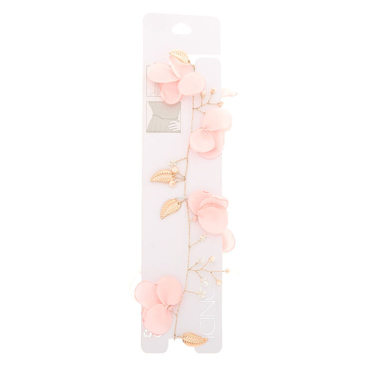 2-In-1 Rose Gold Floral Belt & Headwrap - Pink,