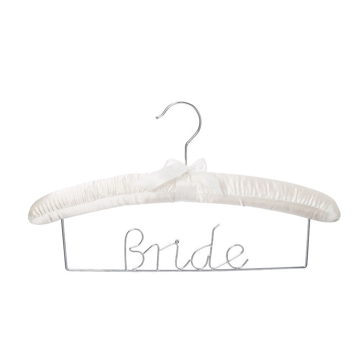 Satin Bride Wedding Hanger,