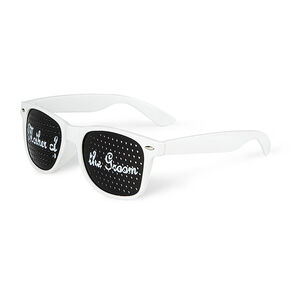 Mother of the Groom Perforated Lens Sunglasses - White,