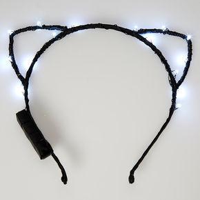 Light Up Cat Ears - Black,