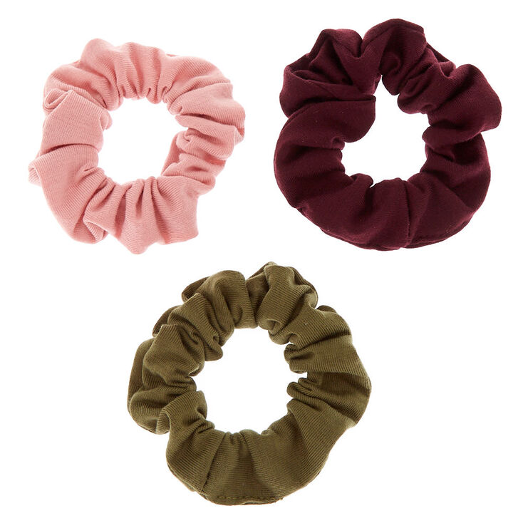 Small Cool Winter Hair Scrunchies - 3 Pack,
