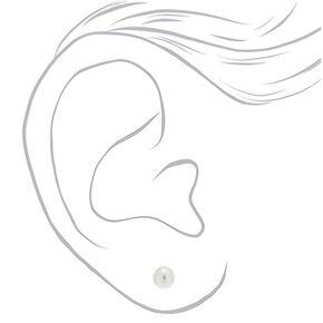 Sterling Silver 6MM Ball Stud Earrings,