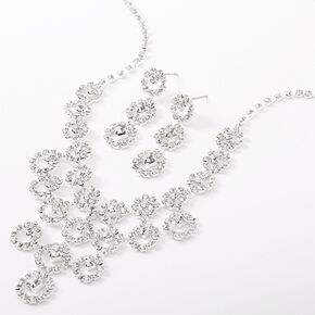 Silver Rhinestone Bubbly Jewelry Set - 2 Pack,