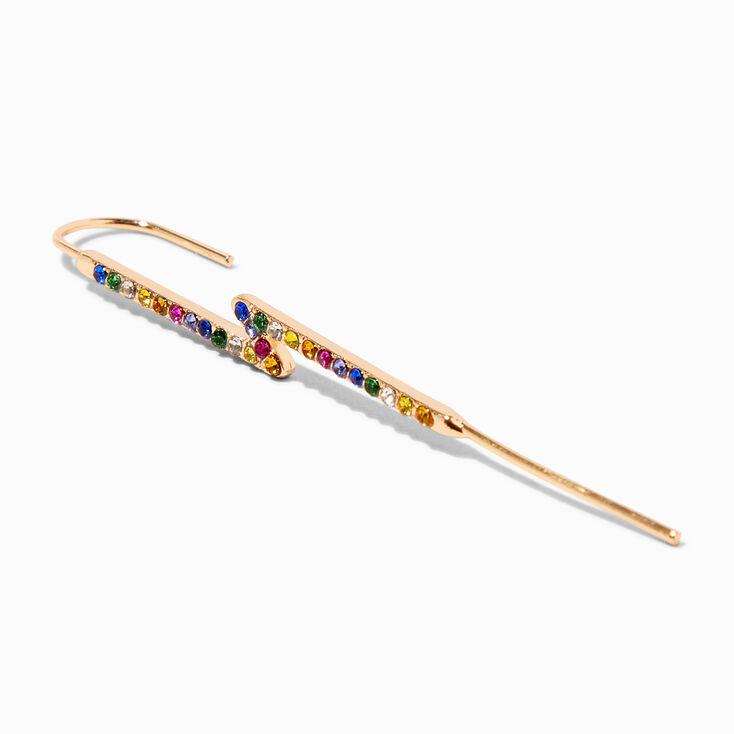 Pink Glitter Heart Domed Stud Earrings,