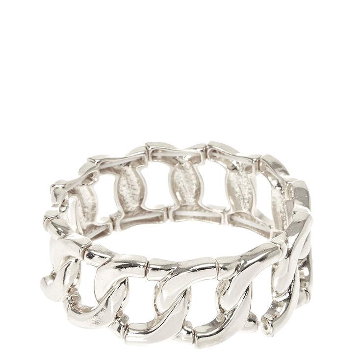 Silver Link Stretch Bracelet,