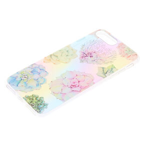 Pastel Succulent Floral Phone Case - Fits iPhone 6/7/8 Plus,