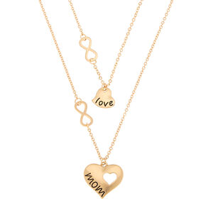 Gold Infinity Mom Pendant Necklaces - 2 Pack,