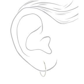 Sterling Silver 20MM Hinge Hoop Earrings,