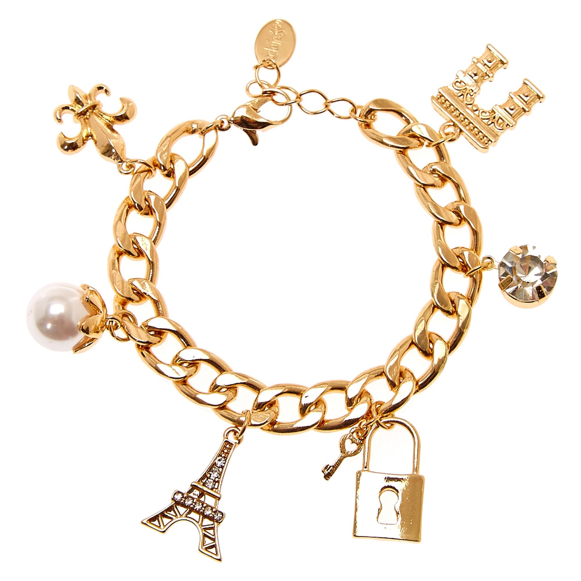 Gold Paris Charm Bracelet