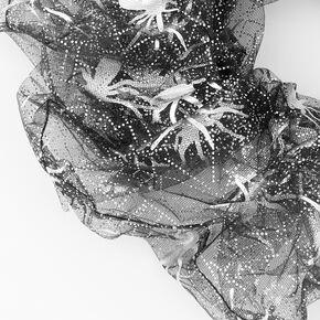 Giant Organza Spider Webs Hair Scrunchie - Black,