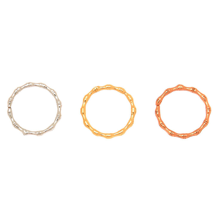 18G Mixed Metal Tragus Rings - 3 Pack,