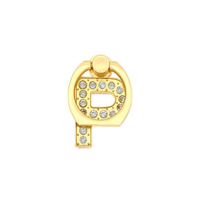 Gold Initial Ring Stand - P,