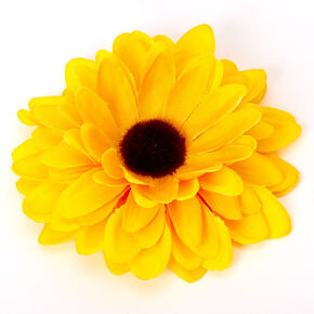 Sunflower Hair Clip - Yellow,