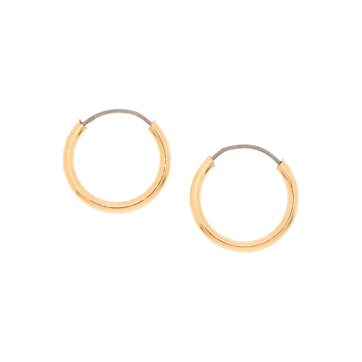 Mini Gold Hoop Earrings,