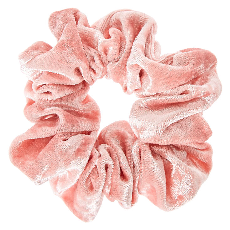 Pink Velvet Bow Hair Scrunchie