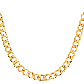 Gold Chunky Chain Necklace,