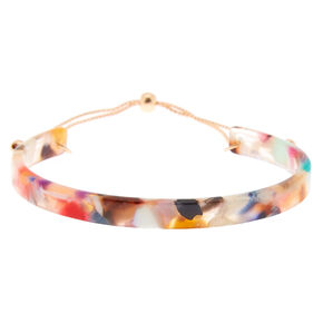 Resin Painted Cuff Bracelet,