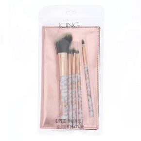 Marble Makeup Brush Set - Rose Gold, 5 Pack,