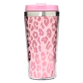 Metallic Leopard Travel Mug - Pink,