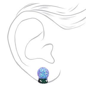 Glittery Crystal Ball Stud Earrings,