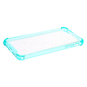 Clear Mint Glitter Protective Phone Case - Fits Iphone 6/7/8+,